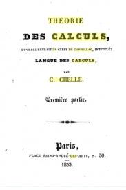 Série-A- Chelle - Théorie des calculs de Condillac
