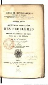 Série-A- Dumouchel, Jean-François - Cours de mathématiques théorique