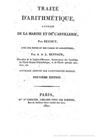 Série-A- Bezout, Etienne - Traité d'arithmétique à l'usage de la marine et de l'artillerie