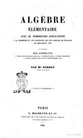 Serie-A- Sonnet, Hte - Algèbre élémentaire