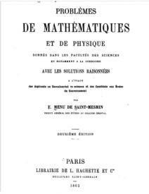 Serie-A- De Saint-Mesmin, Menu - Problèmes de Mathématiques et de Physique