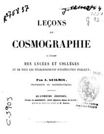 Serie-A- Guilmin, A. - Leçons de Cosmographie