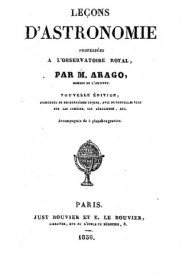 Serie-A- Arago, F. - Leçons d'astronomie