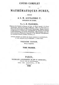 Serie-A- Francoeur, L.B. - Cours de mathématiques pures.JPEG