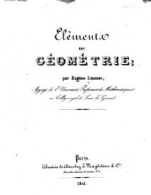 Serie-A- Lionnet, E. - Eléments de Géométrie