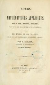 Serie-A- Guilmin, A. - Mathématiques Appliquées