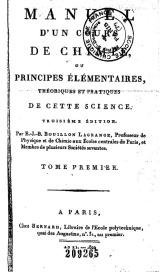 Serie-B- Bouillon-Lagrange - Manuel d'un cours de Chimie