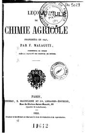 Serie-B- Malagutti, F. - Petit cours de chimie agricole