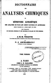 Serie-B- Violette et Archambault - Dictionnaire des analyses chimiques