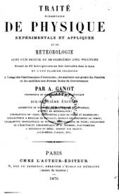 Serie-B- Ganot, A. - Physique et météorologie