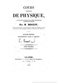 Serie-B- Deguin, M. - Cours de Physique