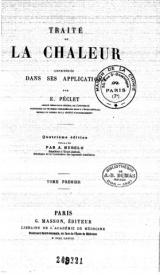Serie-B- Peclet, E. - Traité de la chaleur