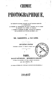 Serie-B- Bareswill et Davanne - Chimie photographique
