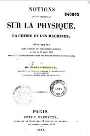 Serie-B- Sainte-Preuve - Notions sur la physique et la chimie