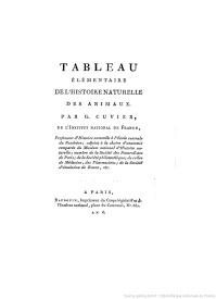 Serie-C- Cuvier, G. - Histoire naturelle des animaux