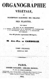 Serie-C- De Candolle - Organographie végétale