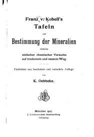 Serie-C- Kobell - Bestimmung der Mineralien