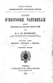Serie-C- De Montmahou,Camille - Zoologie, Botanique, Géologie