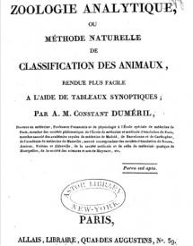 Serie-C- Duméril, Constant - Zoologie Analytique