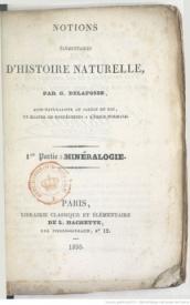 Serie-C- Delafosse, G. - Eléments de minéralogie