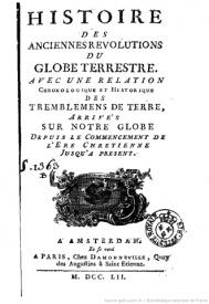 Serie-C- Krüger - Histoire des révolutions du globe