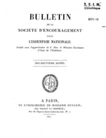 La Société d'encouragement pour l'Industrie française