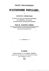 Auguste Comte et l'éducation populaire : le rôle particulier de l'astronomie