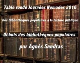 Journée Nomade: les débuts des bibliothèques populaires