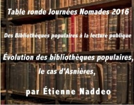 Journée Nomade: Évolution des bibliothèques populaires, le cas d'Asnières