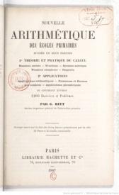 Série-A- Ritt, Georges - Nouvelle arithmétique des écoles primaires