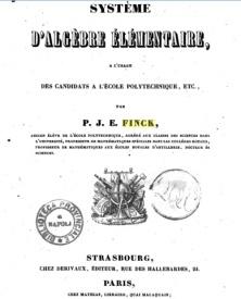 Serie-A- Finck, P.J.E - Système d'algèbre élémentaire