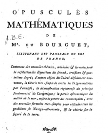Serie-A- Dubourguet - Opuscules mathématiques