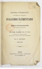 Serie-A- Guilmin, A. - Algèbre élémentaire