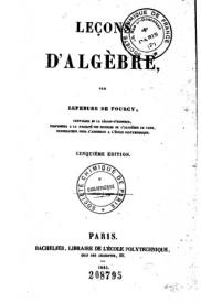 Serie-A- Lefebure de Fourcy - Leçons d'Algèbre