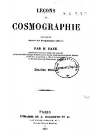 Serie-A- Faye, H. - Leçons de cosmographie