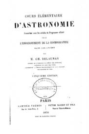 Serie-A- Delaunay, Ch. - Cours élémentaire d'astronomie