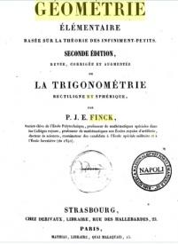 Serie-A- Finck, P.J.E. - Géométrie élémentaire et Trigonométrie