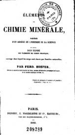 Serie-B- Hoefer, F. - Eléments de chimie minérale