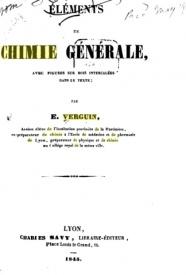 Serie-B- Verguin, E. - Eléments de Chimie Générale