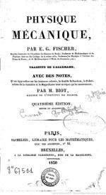 Serie-B- Fischer, G - Physique Mécanique
