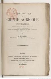 Serie-B- Basset, N. - Chimie pratique