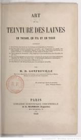 Serie-B- Gonfreville, D. - Teinture des laines, fils et cotons