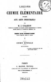 Serie-B- Girardin, J.- Chimie élémentaire