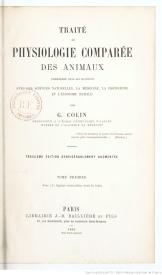 Serie-C- Colin, Gabriel - Physiologie des animaux domestiques