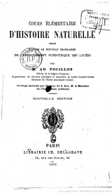 Serie-C- Focillon, A. - Histoire Naturelle