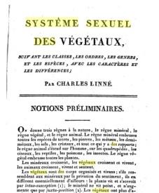 Serie-C- Linné - Système sexuel des végétaux