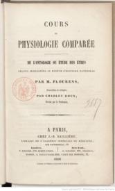 Serie-C- Flourens - Physiologie comparée