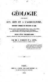 Serie-C- D'Orbigny et Gente - Géologie appliquée aux arts